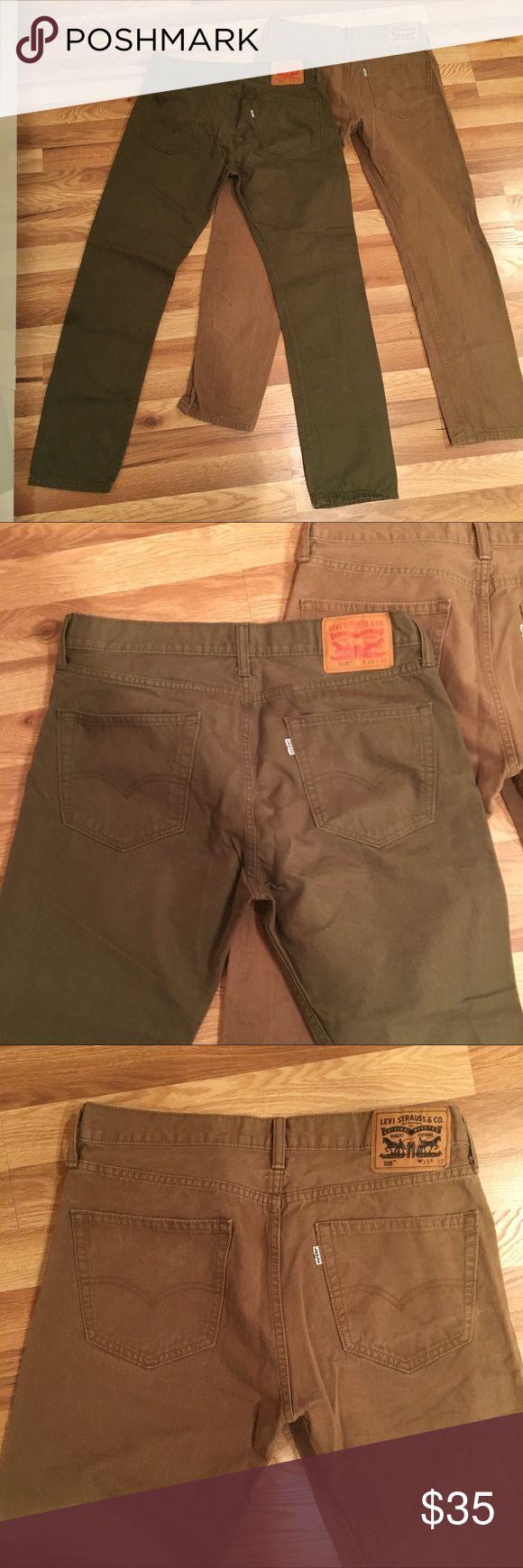 Levi Chino khakis bundle 2 pairs of Levi Chino Khaki pants. Both size W33xL32 in great condition Levi's Pants Chinos & Khakis