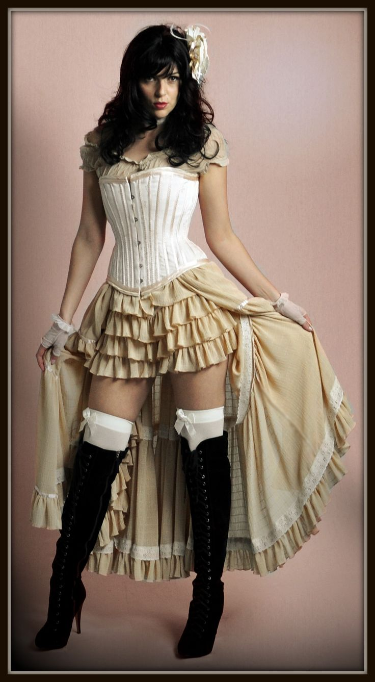 Saloon girl costume, exclusive to The Costume Shop. *(not really historically accurate for burro days, but very cute undergarments!)