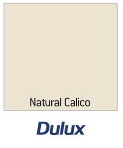 Dulux Natural Calico. Not so yellow as magnolia