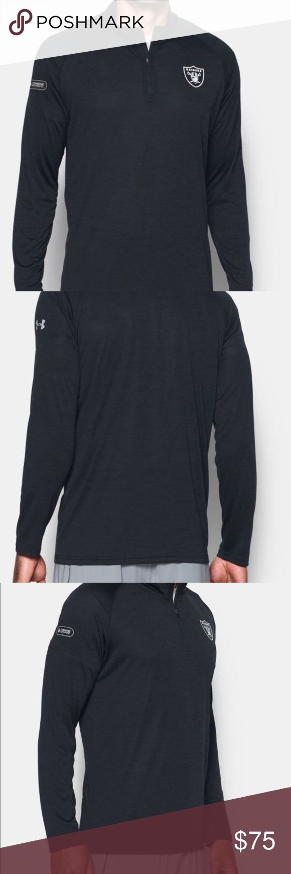 NWT Under Armour Raiders Dri-fit longsleeve size L PRODUCT DNA Loose: Fuller cut for complete comfort. UA Tech™ fabric is quick-drying, ultra-soft & has a more natural feel Moisture Transport System wicks sweat & dries fast Anti-odor technology prevents the growth of odor causing microbes 3.9 oz. Polyester Imported Under Armour Shirts Tees - Long Sleeve
