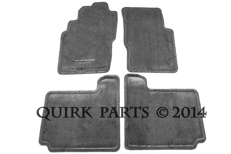 2001-2004 Nissan Pathfinder Floor Mats Carpeted Charcoal GENUINE OEM NEW #Nissan