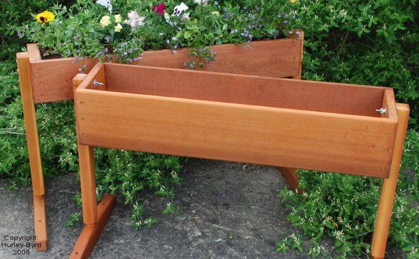 Free standing Window box for when you can't attach one to the house