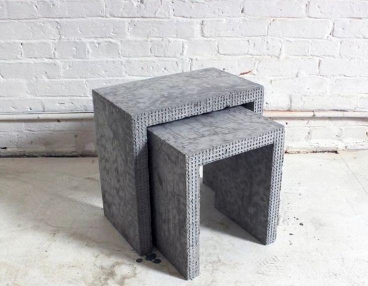 68 best diy cemento images on pinterest cement diy for Muebles originales