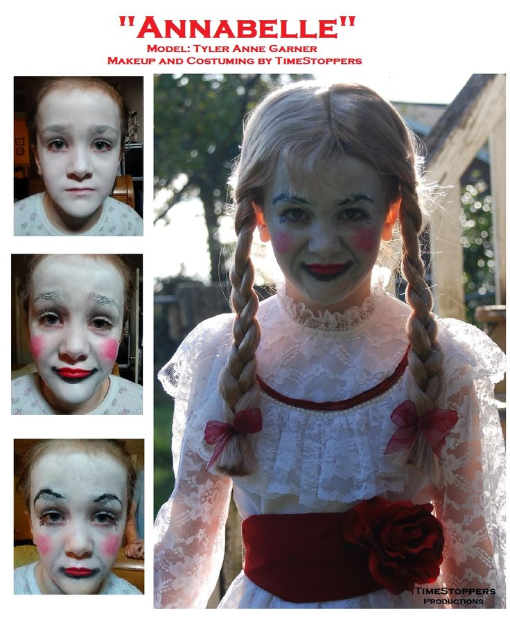 Our Annabelle makeup. Thanks Tyler Anne for being our model!