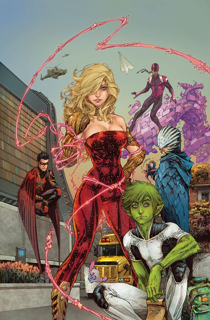Portada de Teen Titans #1 (2014) de Kenneth Rocafort