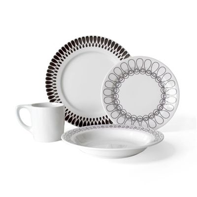 notNeutral 01362000 Ribbon 16-Piece Dinnerware Set