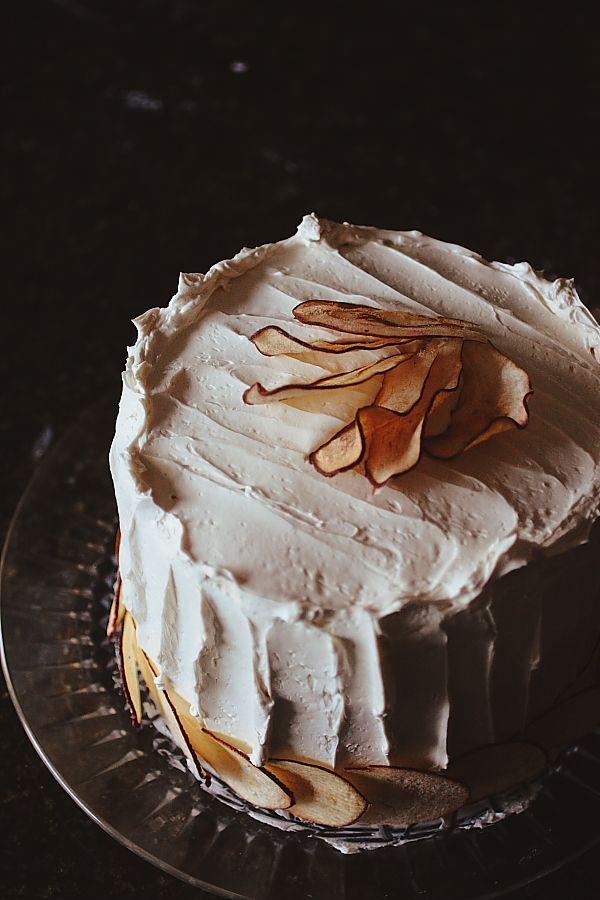 Stella Parks' Brown Sugar, Pear & Pistachio Cake; #recipe @ http://gardenandgun.com/article/brown-sugar-pear-pistachio-cake