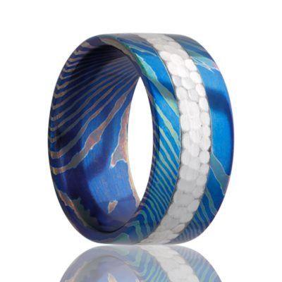 VALTAMERI   Moku-Ti Ring with Hammered Silver Inlay    |    8mm