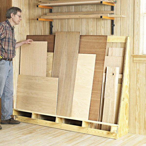 Shorts And Sheets Goods Lumber Rack Woodworking Plan Shop