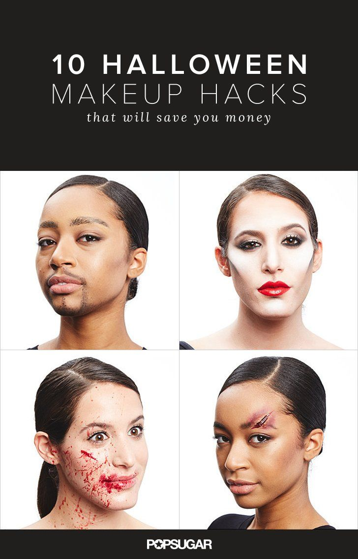 We've gathered 10 beauty tricks you can do with things you already own to create everything you need for  spooky Halloween costume makeup.