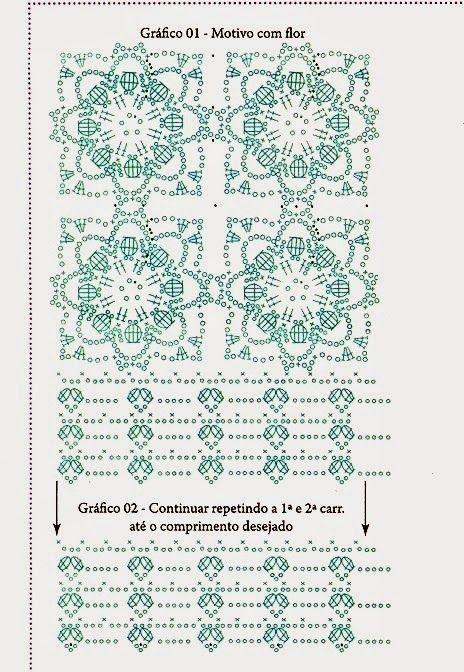 Top Crochet Flores relieve punto cuadrado - Patrones Crochet ...