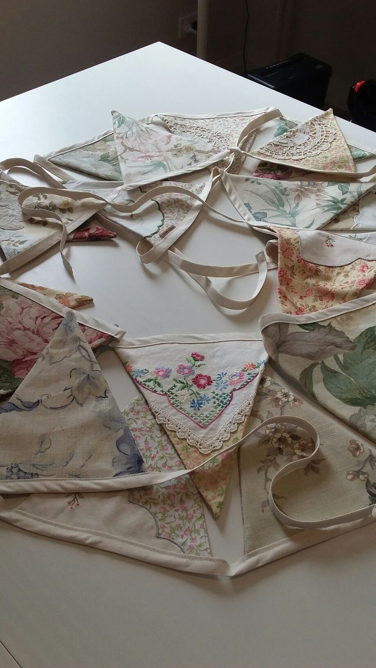 Bunting project made for Vinnies' op shop window display in Bassendean.