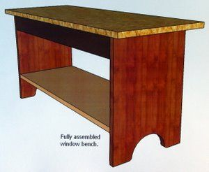 Free Woodworking Bench Plans | Free Wood Bench Plans for a Shaker Bench with Shelf.