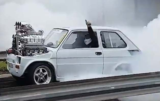 Blown Injected Supercharged Fiat Type 126p Does Some Insane