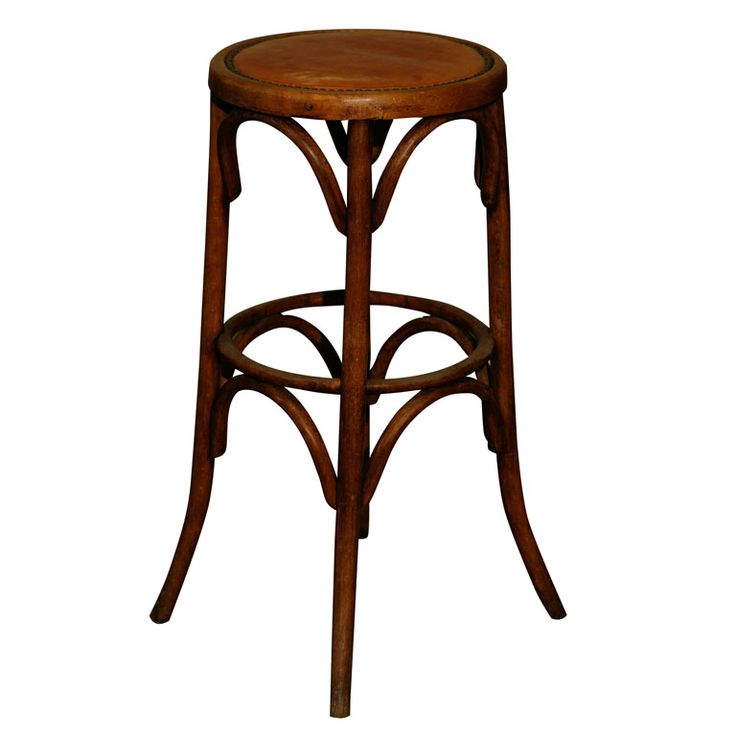 Continental  bentwood bar stool with leather seat | From a unique collection of antique and modern stools at https://www.1stdibs.com/furniture/seating/stools/