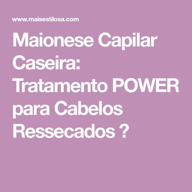 Maionese Capilar Caseira: Tratamento POWER para Cabelos Ressecados 😍