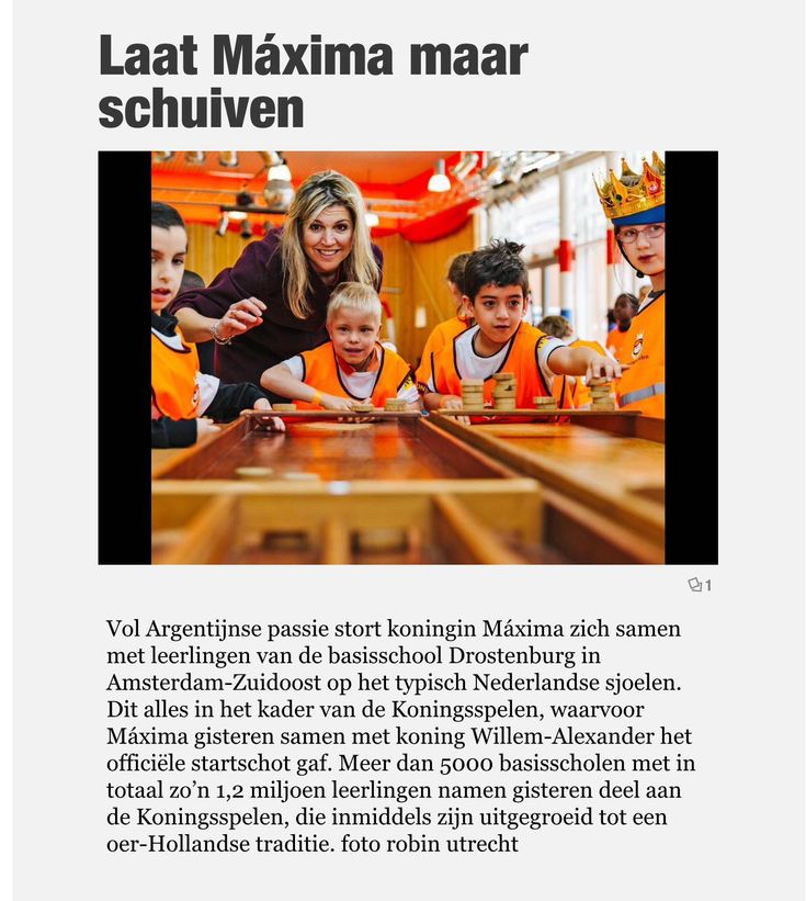 THE Dutch Queen Maxima at the openings of the King games. She was Very excited and happy while playing The Shulbach game. #DutchGame #Australia #MadeInHolland