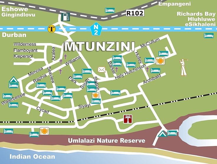 Mtunzini map - in case I get lost :D