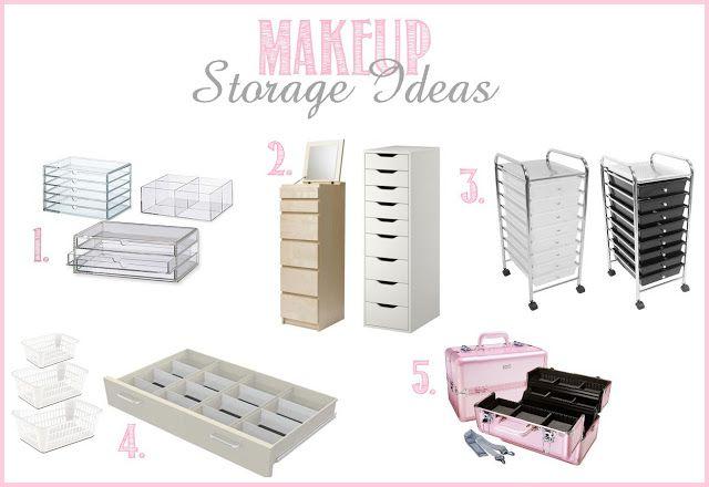 Makeup Collection Storage Ideas Luxurious Pinterest
