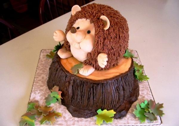 """Hedgehog Cake - like the """"tree"""" base"""