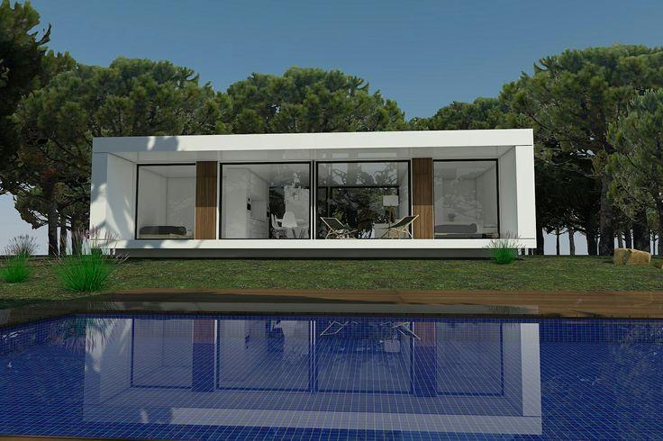 Distintas versiones de un mismo modelo. H-kub personalizacion 100%. H-kub-60b y H-kub72d www.h-kub.com  #casamodular #casa #arquitectura #diseño #arquitecturamoderna #arquitecturamodular #modularhome #modularhouse #casaprefabricada 👍👍👍