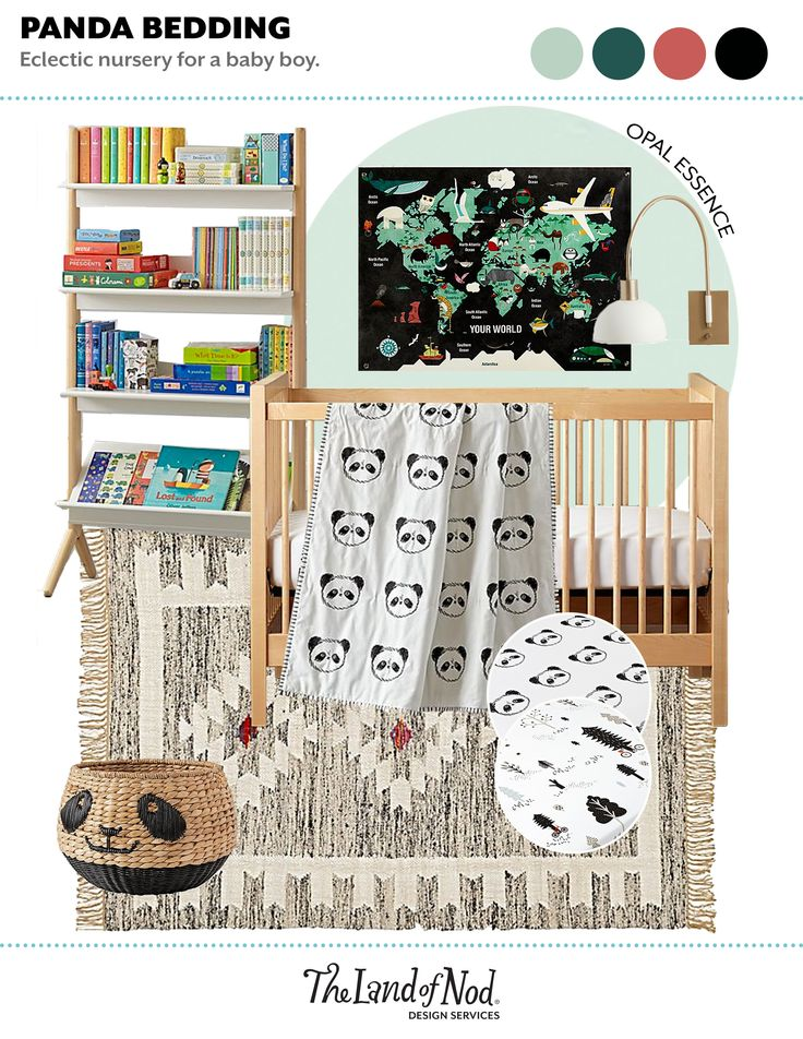 We're positive you've never met a panda like the one on this woven floor basket. It'll take toys and blankets over bamboo any day, so it's a great storage addition for anywhere in the home. And thanks to charming wicker detailing, the basket doubles as perfect panda room decor.Get storage tips to organize your kids spaces Details, details • Nod exclusive • Handmade woven floor basket with black panda face details • Cut out handles • Perfect for toys and blankets • Can be used in any room in…