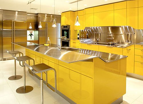 Venus kitchen design-Various Modern Style Kitchen Decoration and Design Color Scheme with Yellow  Furniture Concept