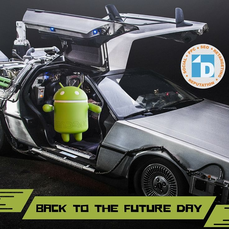 It's October 21, 2015...You know what that means. It's Back  To The Future Day. #BackToTheFuture
