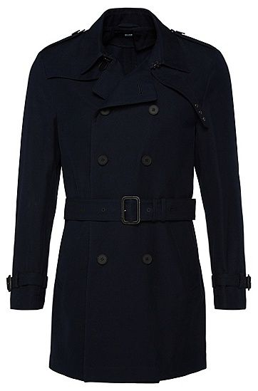 Slim-fit cotton coat: 'Dannie'