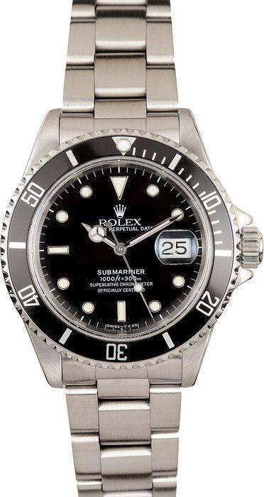Pre Owned Rolex Submariner 16610 Black