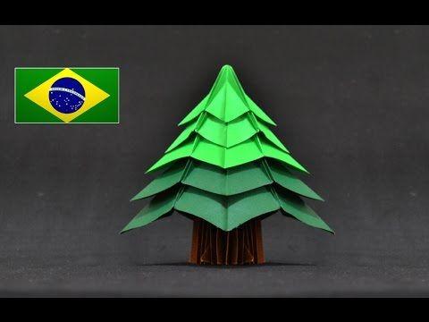 Origami: Árvore de natal ( Jo Nakashima ) - Instruções em português PT BR