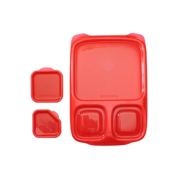 Goodbyn Hero-Kids Lunchboxes- Red. Big, beautiful and super customisable, the Goodbyn Hero is back. These gorgeous BPA-free kids lunchboxes can be customised for 3 to 5 compartments which makes packing lunches for older kids and even adults easy!