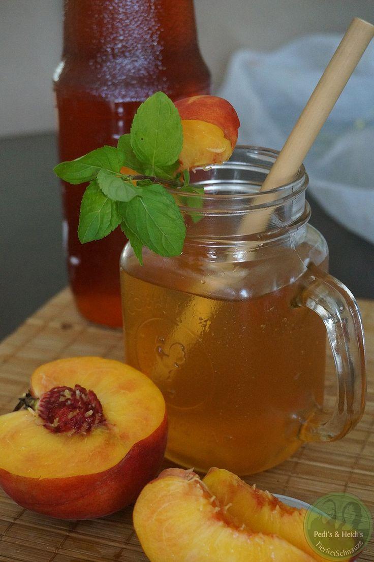 Pfirsich-Eistee Sirup