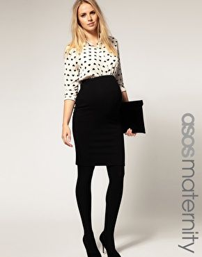ASOS Maternity Exclusive Pencil Skirt in Ponte