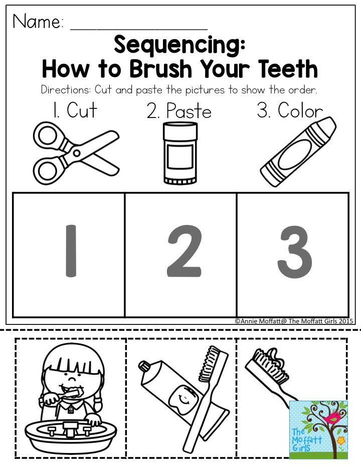 sequencing how to brush your teeth such a simple and effective way to get kids thinking about. Black Bedroom Furniture Sets. Home Design Ideas