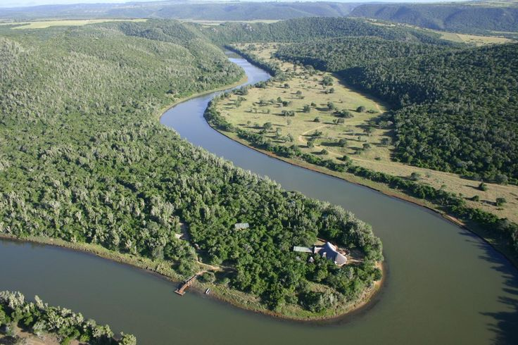 Sibuya Game Reserve's Forest Camp reached by boat along the Kariega River out of Brenton on Sea in the Eastern Cape of South Africa