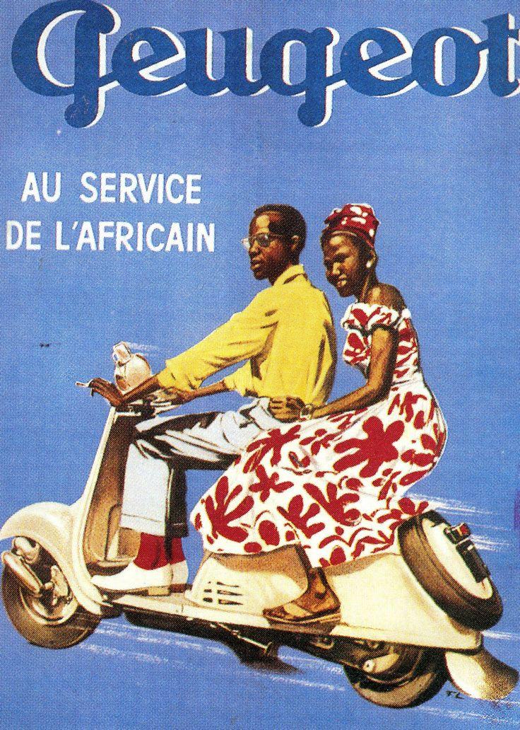 """""""Peugeot au service de l'Africain"""", affiche, c. 1958. © Forney/DR"""
