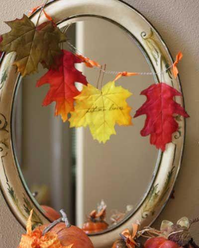 Diy fall leaf banner 秋のクラフト