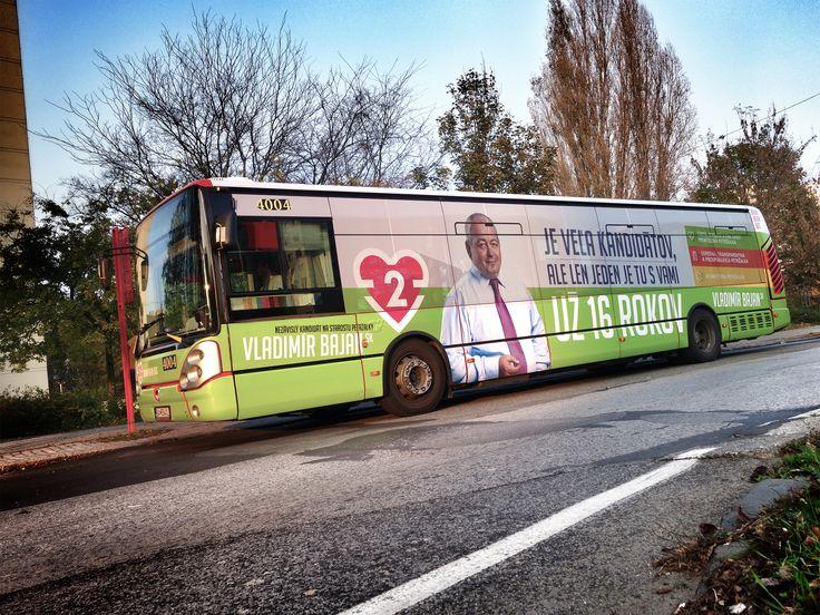 Local elections 2014 -VB, Bratislava-Petržalka, Bajan bus #aircreative #advertisingagency #advertising #bus #promo