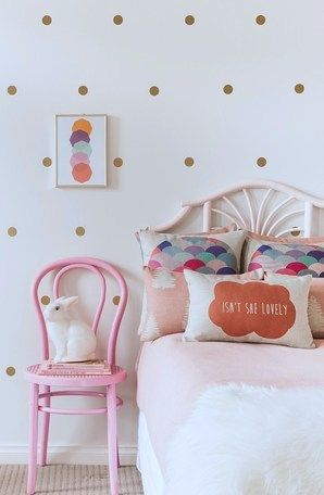 Gold Polka Dot Wall Decals