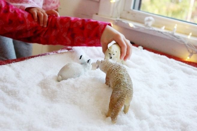 How to make insta snow indoor fun for kids