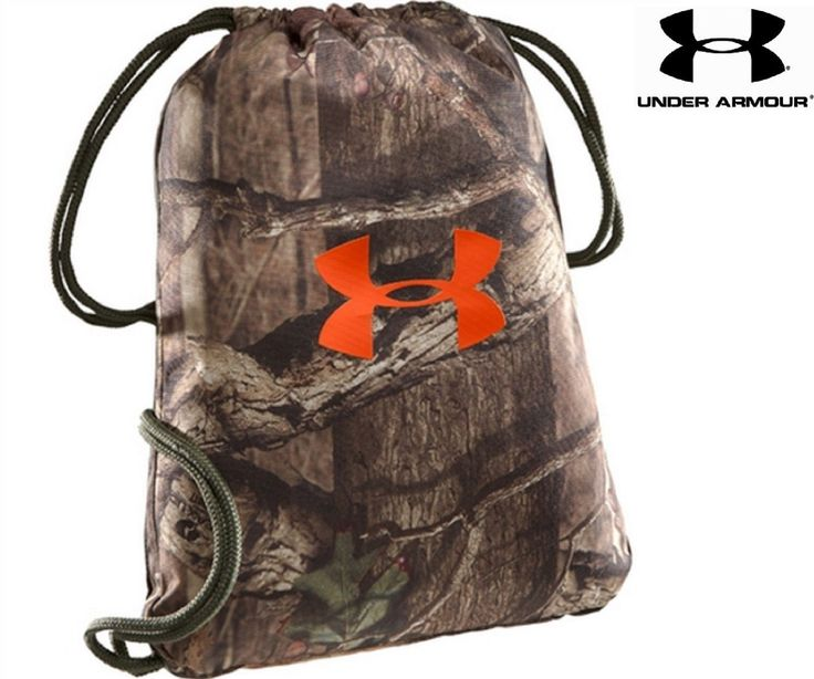 """Under Armour Real Tree Camouflage Sackpack - UA 18"""" Camo Backpack Bag"""