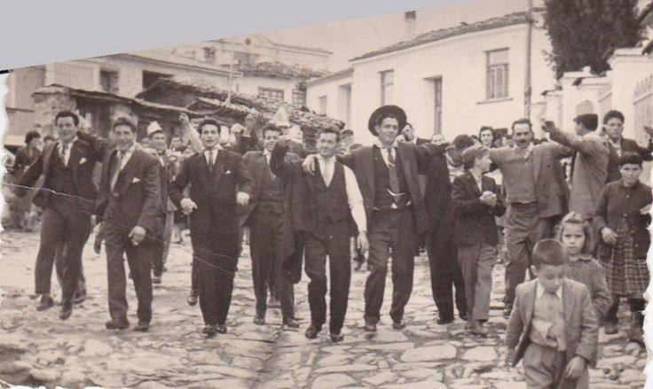 1960, Wedding Procession in my hometown village, Velvento Kozanis (Greece). This photo brings me many memories of my childhood! Greeks and dance have an unbreakable bond!