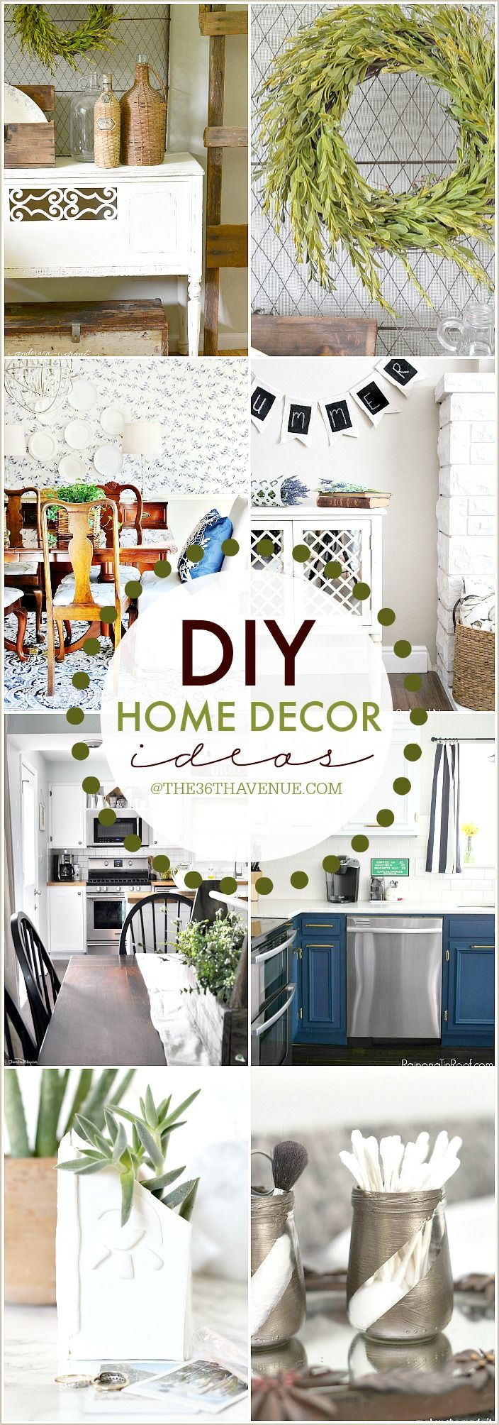 20 DIY Home Decor Ideas | Hardware, Craft and House