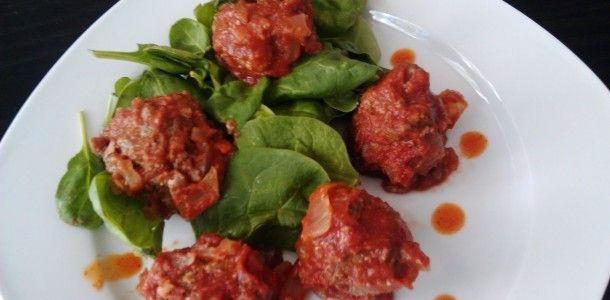 Paleo Moroccan Meatballs in Cumin Coriander Tomato Sauce   Recipe ...