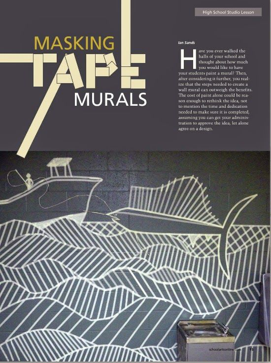 Art of Apex High School: schoolarts: tape murals and inside locker murals on this site.