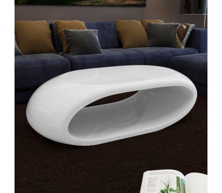 Sofabord i glas - hvid