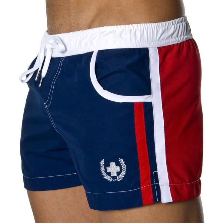 Navigator Swim Shorts by Andrew Christian at Andrew Christian in NAVY, ROYAL, BLACK, GREY