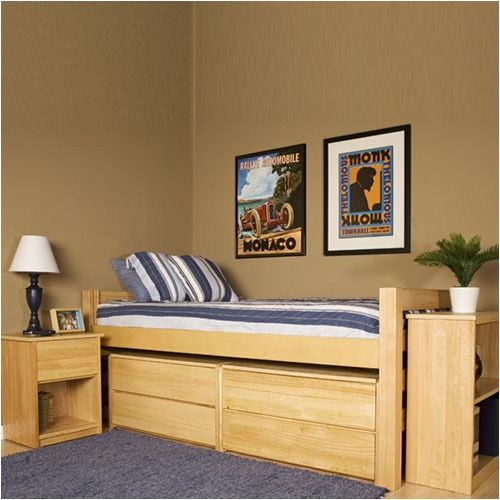university loft graduate series twin xl bed natural finish