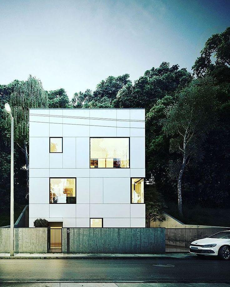 Potegraphics wizualizacja architektoniczna budynku jednorodzinnego  Potegraphics architecture visualization